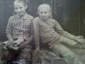 A photo taken when my mother was food editor of  a national magazine; me on the right