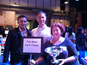 With the New York Times trivia team --- the year we won!