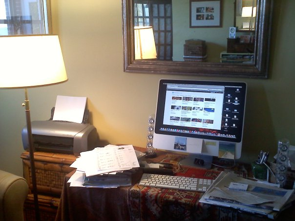 Here's my desk, messy as usual...