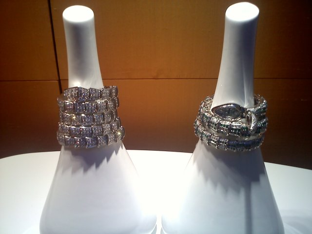The diamond-studded watch-bracelets at Bulgari -- what the boss might be wearing