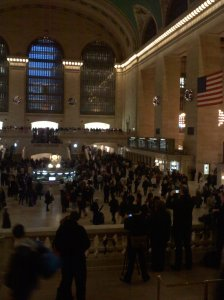 Grand Central Terminal, rush hour. Isn't it gorgeous?