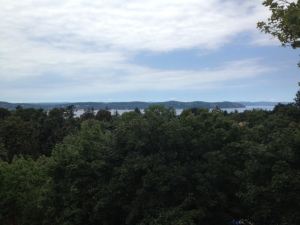 Our view of the Hudson River -- one reason we stay!