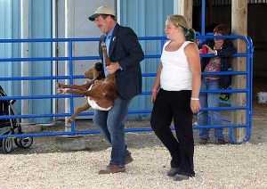 She didn't win, because her goat behaved badly. But she learned how to compete.
