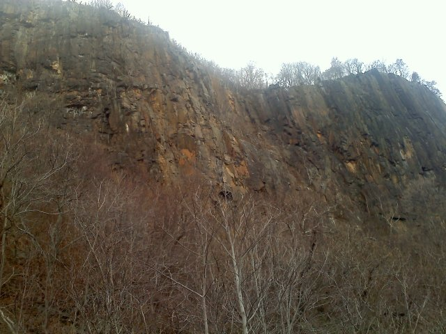 The western side of the Hudson; the cliffs reach 800 feet in height.