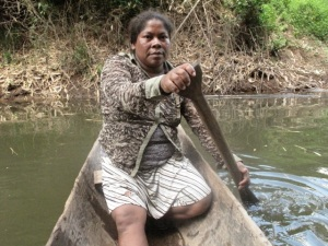 Our host, Linda Felix, paddling her canoe