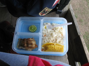 A typical working lunch in Nicaragua
