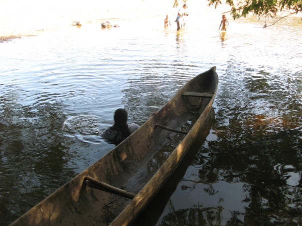 I loved traveling in a dugout canoe in Nicaragua