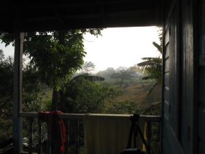 The view from the village house where we stayed; no electricity or running water. Heaven!