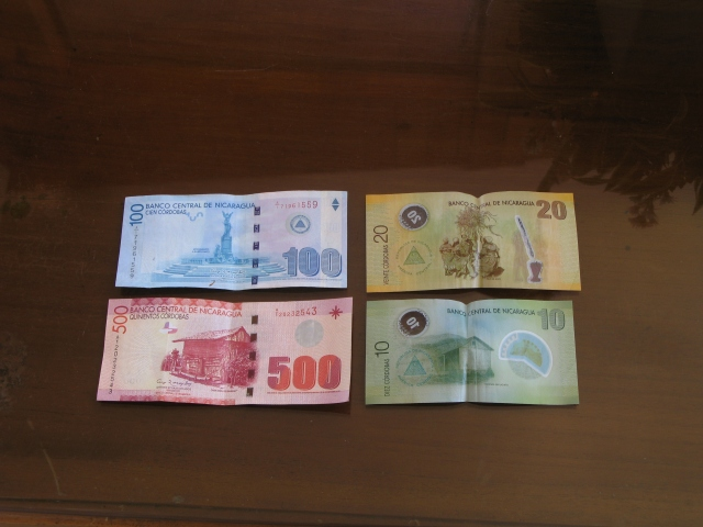 The currency is the cordoba; 25 = $1 U.S.