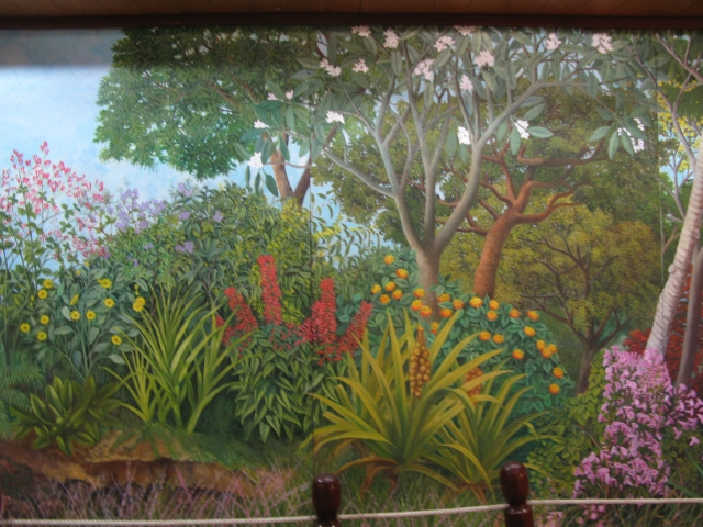 This painting in a Managua museum captures it