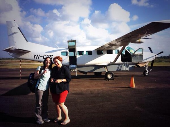 Our aircraft from Managua to Bilwi -- and back!