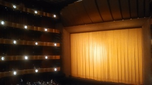 """There are five """"rings"""" or balconies. The view from the second ring is terrific! Note the diamond-shaped lights."""