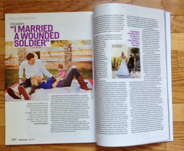 My story in July 2014 Cosmopolitan (U.S. edition)