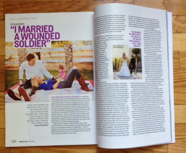 My story in July 2014 Cosmo!