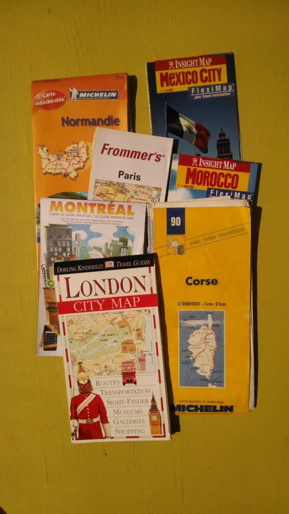 Just a few of our large collection...looking forward to re-using my maps of Paris and London this year!