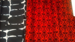 Two fabrics from a Montreal distributor