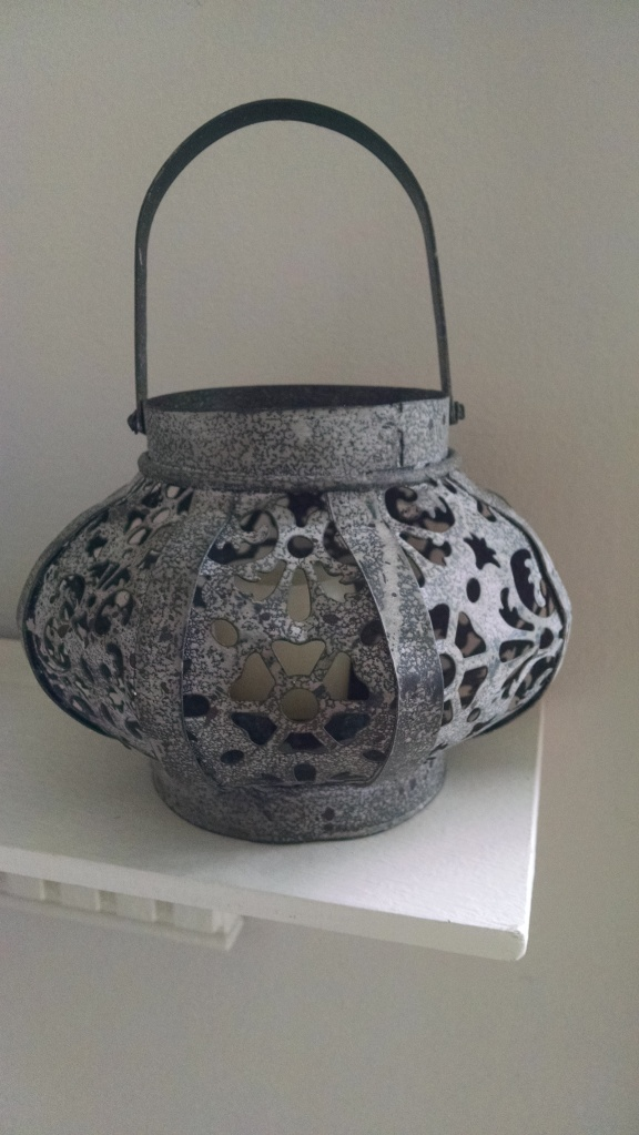 At night, with a votive inside it, it casts such gorgeous shadows!