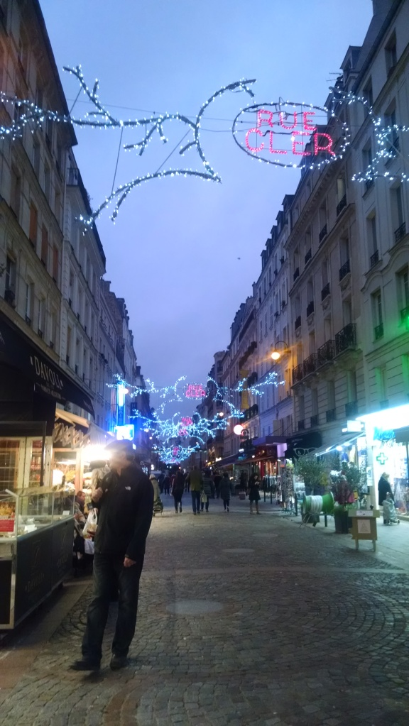 Rue Cler, around the corner from our borrowed apartment