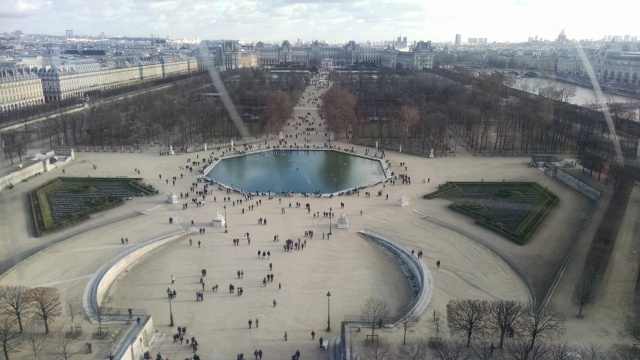 High above Paris --- silence!