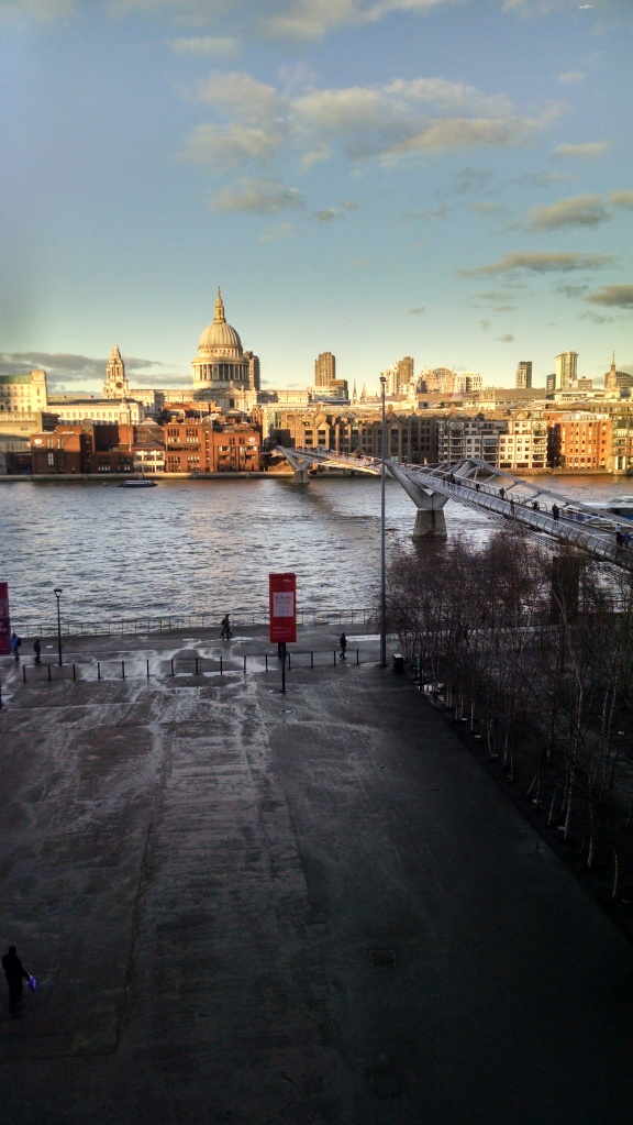 Sunshine! St. Paul's across the Thames.