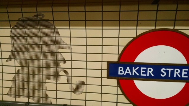 Spent my life on the Underground, using my Oyster card. Love this shadowy reference to Sherlock Holmes