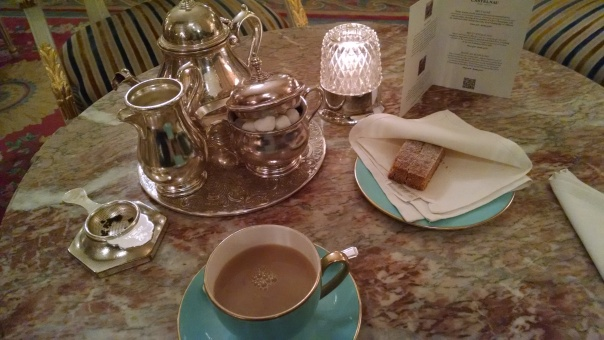A cup of tea at the Ritz in London