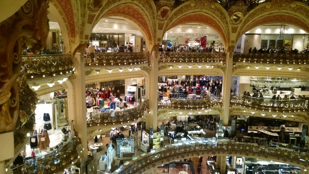 Galeries Lafayette. Gorgeous but tiring!