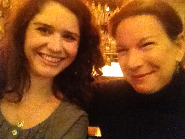A new friend, Mallory Guinee, in Paris, January 2015. We met through our blogs!