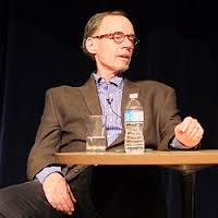 The late, great NYT media writer David Carr, a lively and funny speaker