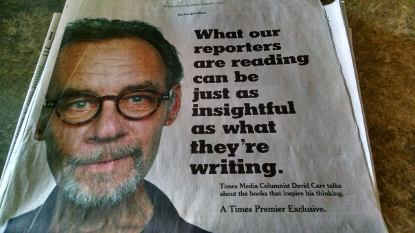 The late David Carr, NYT media columnist, dead at 58