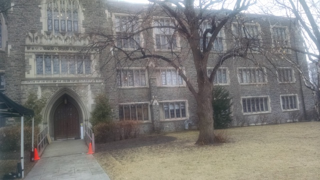 Victoria College, University of Toronto, where I met M in freshman English class