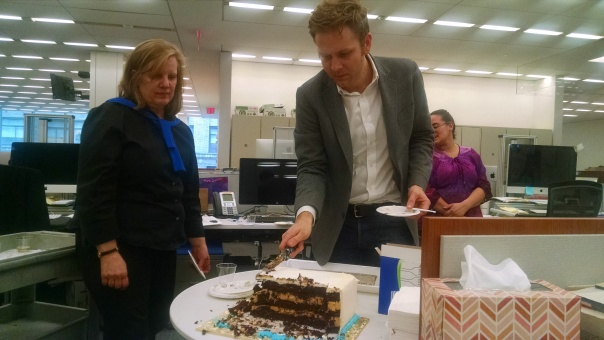 His goodbye cake was enjoyed by all