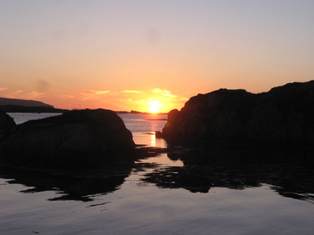 Sunset at Burtonport, County Donegal. The time? 10-:15 p.m. Yes, really!