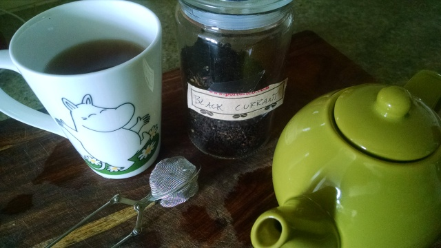One habit I intend to keep -- a daily pot of tea