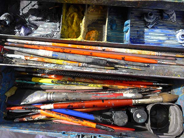 These are the tools of an artist. That's work, too!