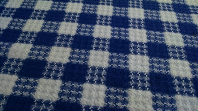 A vintage tablecloth scored this summer in Maine