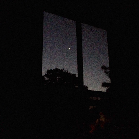 The night-time view from one of the windows at my Dad's house...