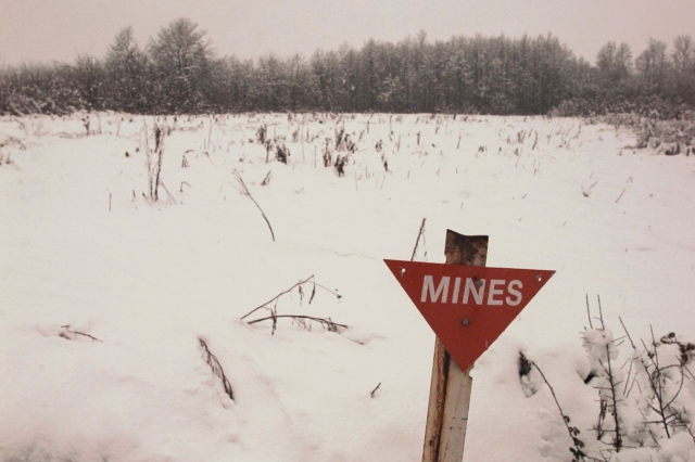 mine sign in field